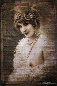 Vintage Nudie Digital Collage